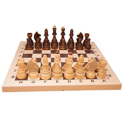 Wooden Chess Board with Classic Chess Pieces