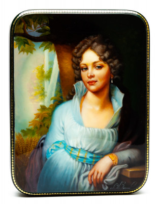160x120mm Maiden portrait Hand Painted Jewellery Box (by Alexander G Studio)