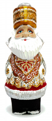 140 mm Santa Claus with a bag of gifts (by Igor Carved Wooden Figures Studio)