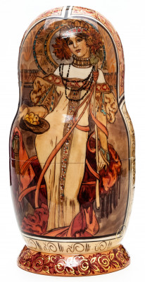 210 mm Autumn hand painted on Wooden Matryoshka doll 7 pcs (by Trifinov Studio)