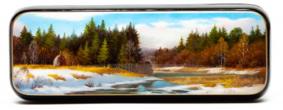 175x60mm River Hand Painted Jewellery Box (by Alexander G Studio)