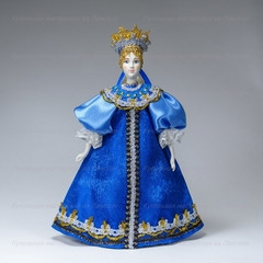 240 mm Russian Women in a Blue Holiday Dress 18 century (by Le Russe)