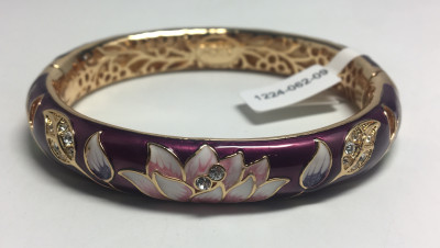 Lotus Violet Bracelet with Enamel (by AKM Gifts)
