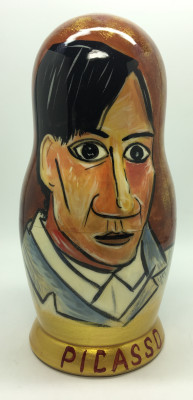 200 mm Picasso famous paintings hand painted on wooden Matryoshka doll 5 pcs (By A Studio)