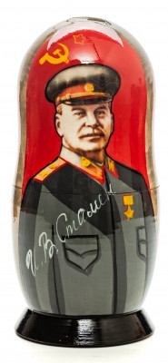 180mm Joseph Stalin Hand Painted Matryoshka Doll 5 pcs (by Konstantin Studio)