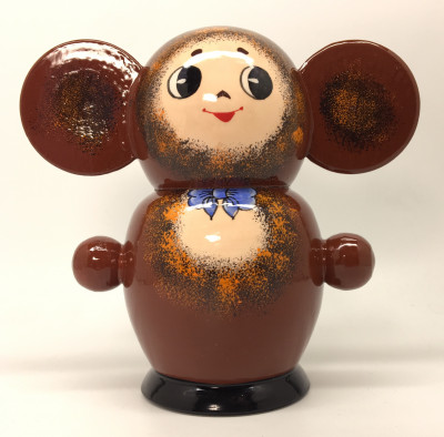 120 mm Cheburashka Hand Painted Matryoshka Doll 5 pcs (by Marina)