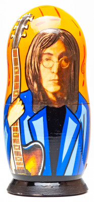 180mm John Lennon Hand Painted Matryoshka Doll 5 pcs (by Konstantin Studio)