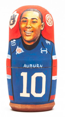 100mm Kiehl Frazier from Auburn Tigers Devan Barrett Hand Painted Matryoshka Doll 5 pcs (by Konstantin Studio)