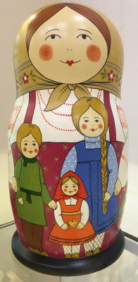 430 mm Moscow Family Russian hand painted Matryoshka Doll with 30 pcs inside (by Malutin Studio)