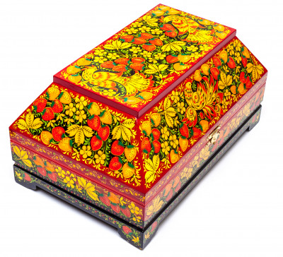 320x200mm Khokhloma Painting Jewellery Wooden Box