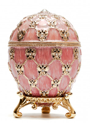 96 mm Imperial Coach and Pink Imperial Coronation Easter Egg