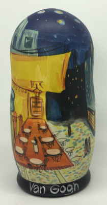 200 mm The Night Cafe Vincent Van Gogh hand painted Matryoshka dolls 5 pcs (by Alexander Studio)