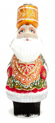 160 mm Santa Claus with a Staff And a Bag with Gifts (by Igor Carved Wooden Figures Studio)
