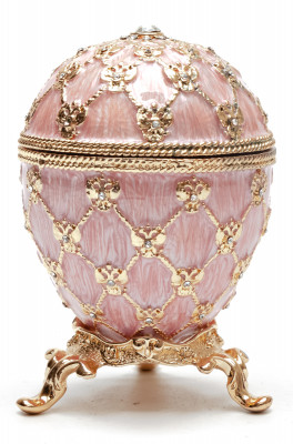 80 mm Clock and Pink Imperial Coronation Music Easter Egg