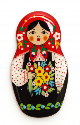 60x32 mm Russian Matryoshka Fridge Magnet (by AKM Gifts)