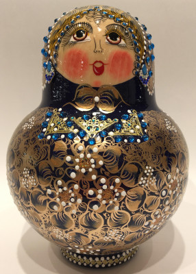 Russian North Pattern Matryoshka Doll 20 inside