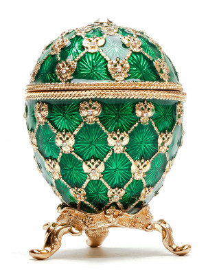 80 mm Clock and Green Imperial Coronation Music Easter Egg