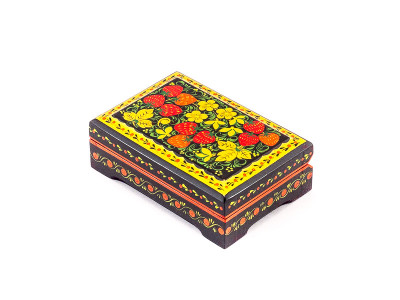 Khokhloma Painting Jewellery Wooden Box 120x80 mm