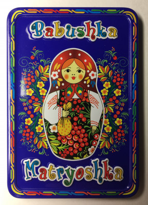 52x78 mm Babushka Matryoshka Metal Fridge Magnet (by AKM Gifts)