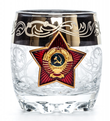 80 ml Red Star USSR Crystall Glass Shot Glass