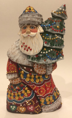 Hand Carved and Painted Santa Claus