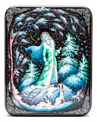 150x190 mm The Snow Maiden Snegurochka Hand Painted Jewellery Box (by Sadko Workshop)