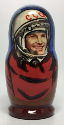 120 mm Yury Gagarin Alexey Leonov and Soviet Cosmonauts Matryoshka Doll 5 pcs (by 3A Studio)
