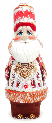 150 mm Santa Claus with a bag of gifts (by Igor Carved Wooden Figures Studio)