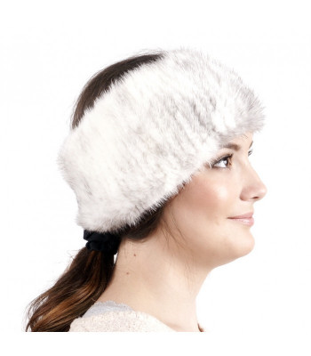 Cross Knitted Mink Fur Headband