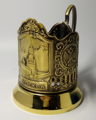 Spasskaya tower Pure Brass Tea Glass Holder (by Kolchugino)