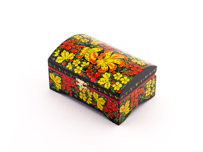 Khokhloma Painting Jewellery Wooden Box 140x90mm