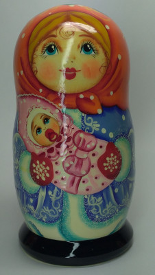 120mm Winter Promenade hand painted Matryoshka 3pcs (by Gift Shop)