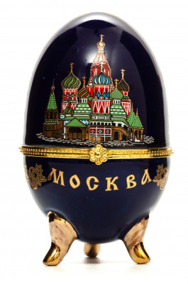 Easter Egg box with Moscow Picture black