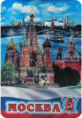 70x105 mm Snt Basil Cathedral Foil Fridge Magnet