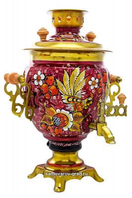 Rooster Hand Painted Electric Samovar Kettle