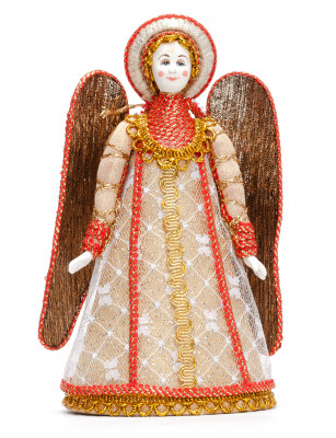 180 mm Heavenly Prayer Angel Porcelain Figurine (by Le Russe)