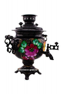 Flowers Hand Painted Electric Samovar Kettle