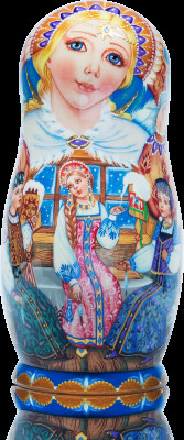The Tale of Tsar Saltan hand painted Wooden Matryoshka Doll 5 pcs (by Vasily Crafts)