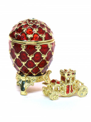 30 mm Imperial Coach and Red Imperial Coronation Easter Egg