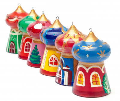 Russian Temples Christmas Tree Ornaments