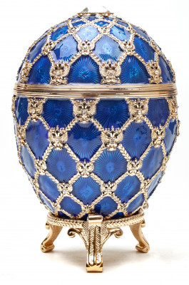 "Easter Egg ""With the Cariage"", 14,5 см, blue"