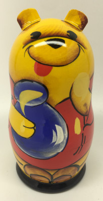Winnie the Pooh hand painted wooden Matryoshka Doll 3pcs painted by Marina