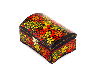 Khokhloma Painting Jewellery Wooden Box 120x80mm