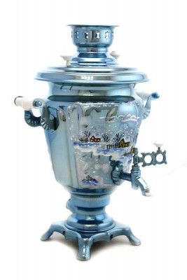 Winter Landscape Hand Painted Electric Samovar Kettle
