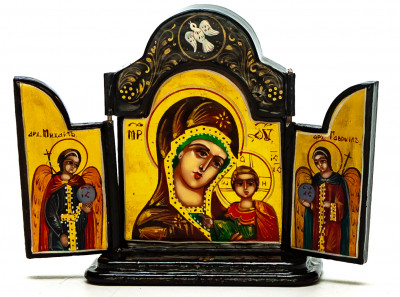 50x60mm Kazanskaya Godmother handpainted wooden Icon (by Galina Studio)