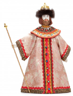 Boris Godunov Tsar of Russia hand made Porcelain Doll with a Staff - 11 Inches (by Le Russe)