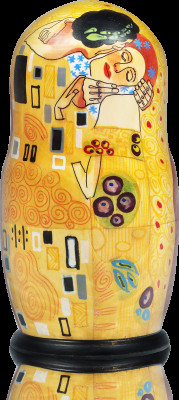 200 mm The Kiss by Gustav Klimt handpainted Matryoshka 5pcs (by Alexander Studio)