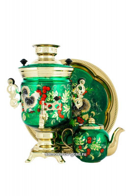 Grouse Hand Painted Electric Samovar Kettle
