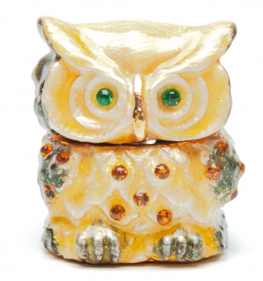 35 mm Owl with the Rhinestones Jewellery Box