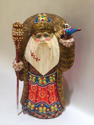 ded moroz in a red coat